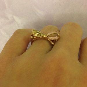 Kate Spade rose gold bow ring!